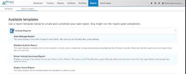 click report templates